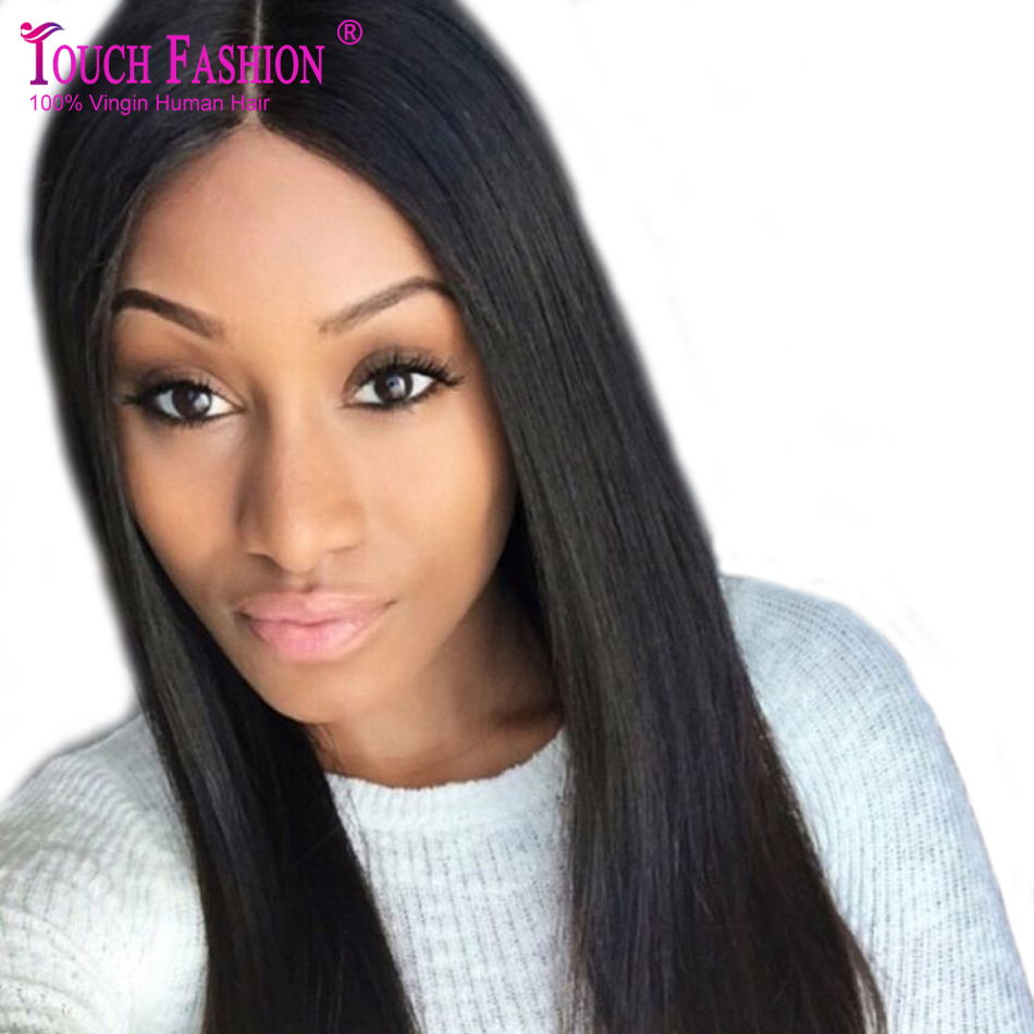 Silky Straight 4X4 Lace Front Silk Base Wigs Silk Top Lace Front Wig/Glueless Silk Top Full Lace Wig Virgin Hair with Baby Hair