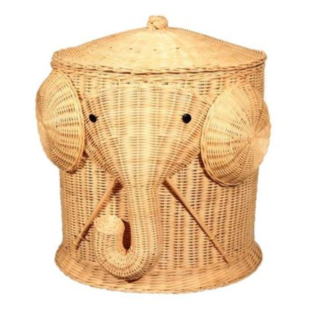 Elephant toy box promotion shop for promotional elephant toy box on - Elephant hamper wicker ...