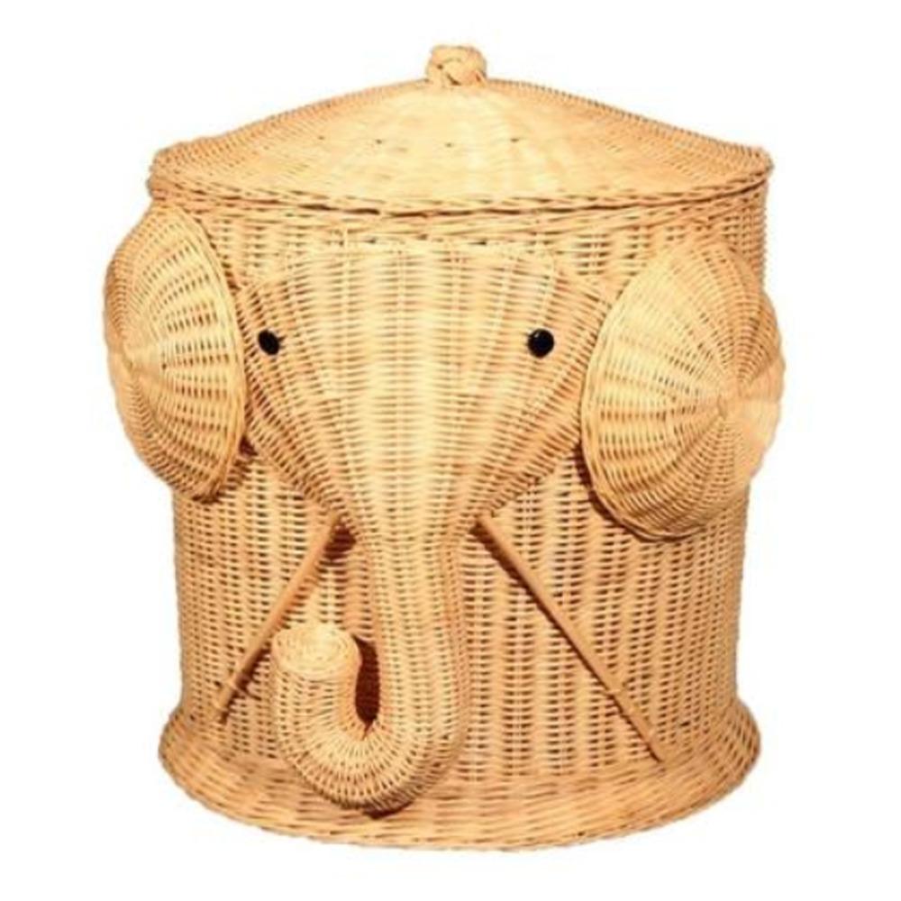 Elephant toy box promotion shop for promotional elephant toy box on - Elephant wicker hamper ...