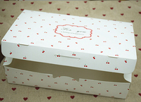 21*14*5cm white cookie containers, cake packaging box , handmake small gift packing box custom