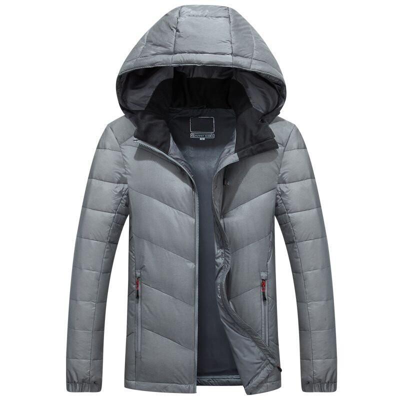 Скидки на ГОРЯЧАЯ ПРОДАЖА 2016 мужская новый зимний пуховик с капюшоном мужские Пальто Куртки мужские пальто 9017