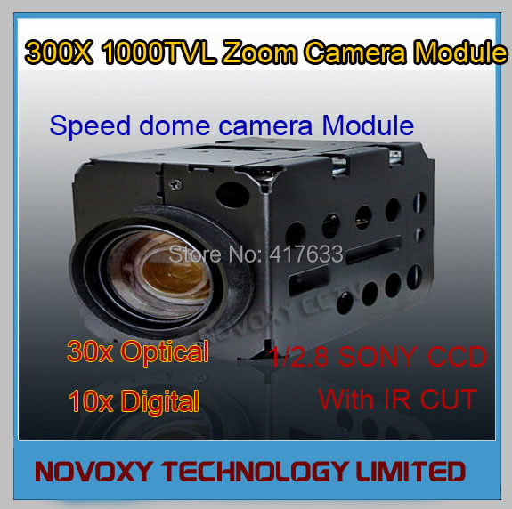 1/2.8 inch 1000TVL Sony CCD 30x Optical 10x Digital Auto Focus ICR CCTV Speed Dome Zoom Block Camera Module 3.3~99mm - NOVOXY TECHNOLOGY LIMITED store