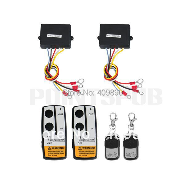 2 x Wireless Winch Remote Control Kit 12V  for Truck Jeep SUV ATV