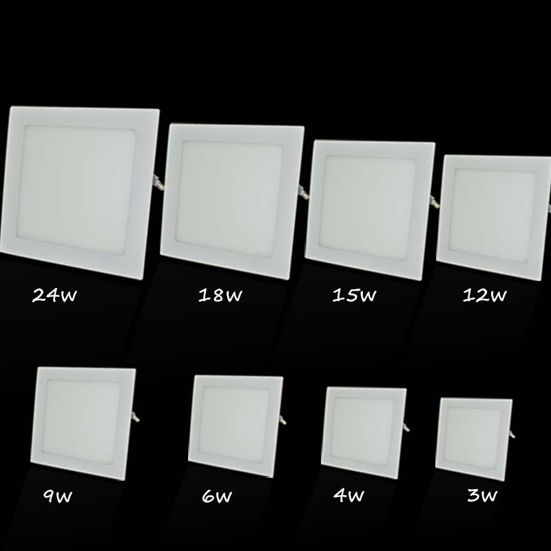 light panel ultra thin 4W 6W 9W 12W 15W 18W surface panel led light square led light panel 2835 led panel led(China (Mainland))