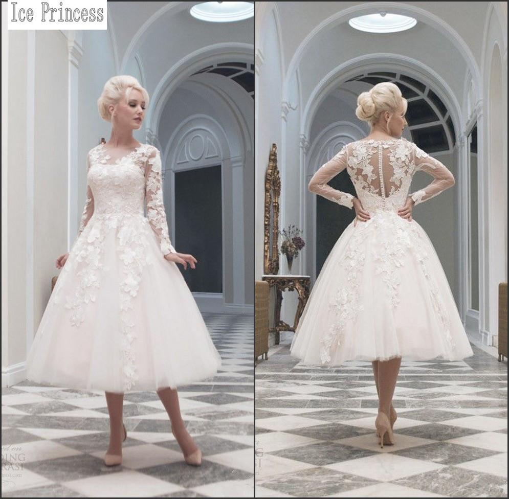 Plus Size Vintage Short Wedding Dresses