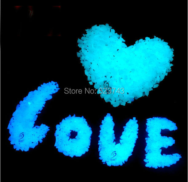 Free Ship 100g/Bag Blue Luminous Sands glow in the Dark decoration garden ornaments Glowing Stone Sand powder for Wishing bottle(China (Mainland))