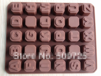 Silicone Alphabets Letter Chocolate Molds Jelly Ice Mold Cake Moulds Bakeware
