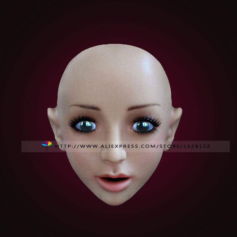2015'S NWE Exquisite small V face !face mask Female Beauty Latex Full Head Mask Movie mask silicone Fancy Dress(China (Mainland))