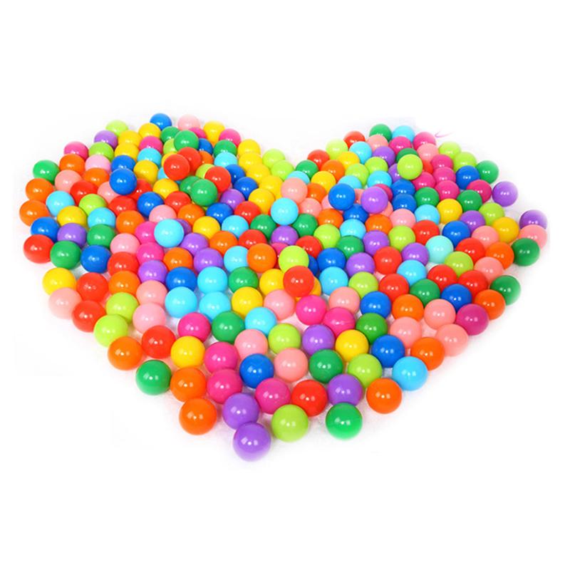 100Pcs Colorful Balls Soft Plastic Ocean Balls Funny Baby Kid Swim Playing Pit Toy K5BO