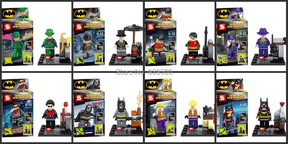 DC Batman Dark Knight Figures Super Hero SY171 Building Blocks Sets Model Classic Toys Bricks Compatible Legao - sweety baby's store