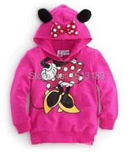 Brand 1pcs 2015 New Children's Hoodied Coats Cartoon Mickey Boys Girls Long-sleeve T-shirt Sweatshirt Kids Sport Hoodies 2-6Y (China (Mainland))