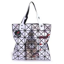 2016 Newest Totes Women Bag Vintage Geometric Rhombus Woman Bag Printing Casual baobao Bag Shoulder Handbags