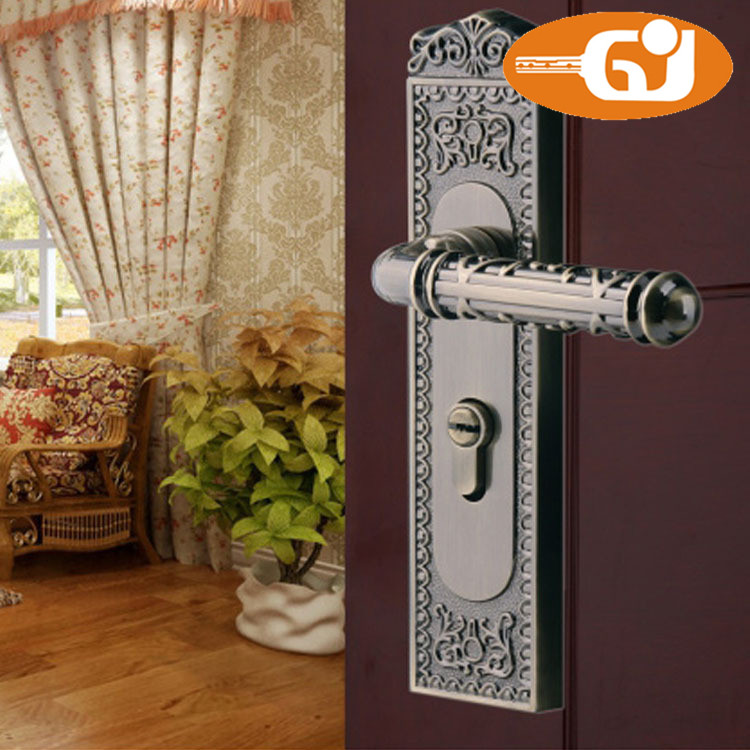 economic zinc interior bedroom security door handle lock in locks from