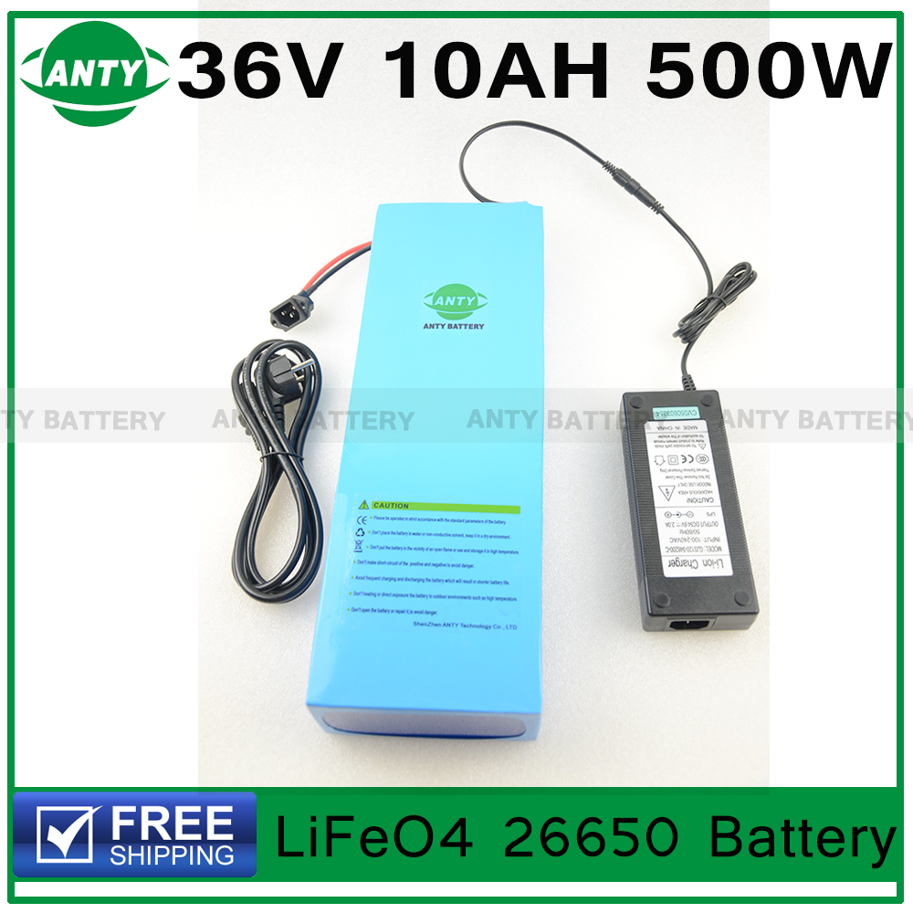 Здесь можно купить  Lithium Battery 36V 10Ah 500W eBike LiFeO4 Battery 36v with 43.8v 3A charger,15A BMS Electric Bike Battery 36v Free Shipping Lithium Battery 36V 10Ah 500W eBike LiFeO4 Battery 36v with 43.8v 3A charger,15A BMS Electric Bike Battery 36v Free Shipping Спорт и развлечения