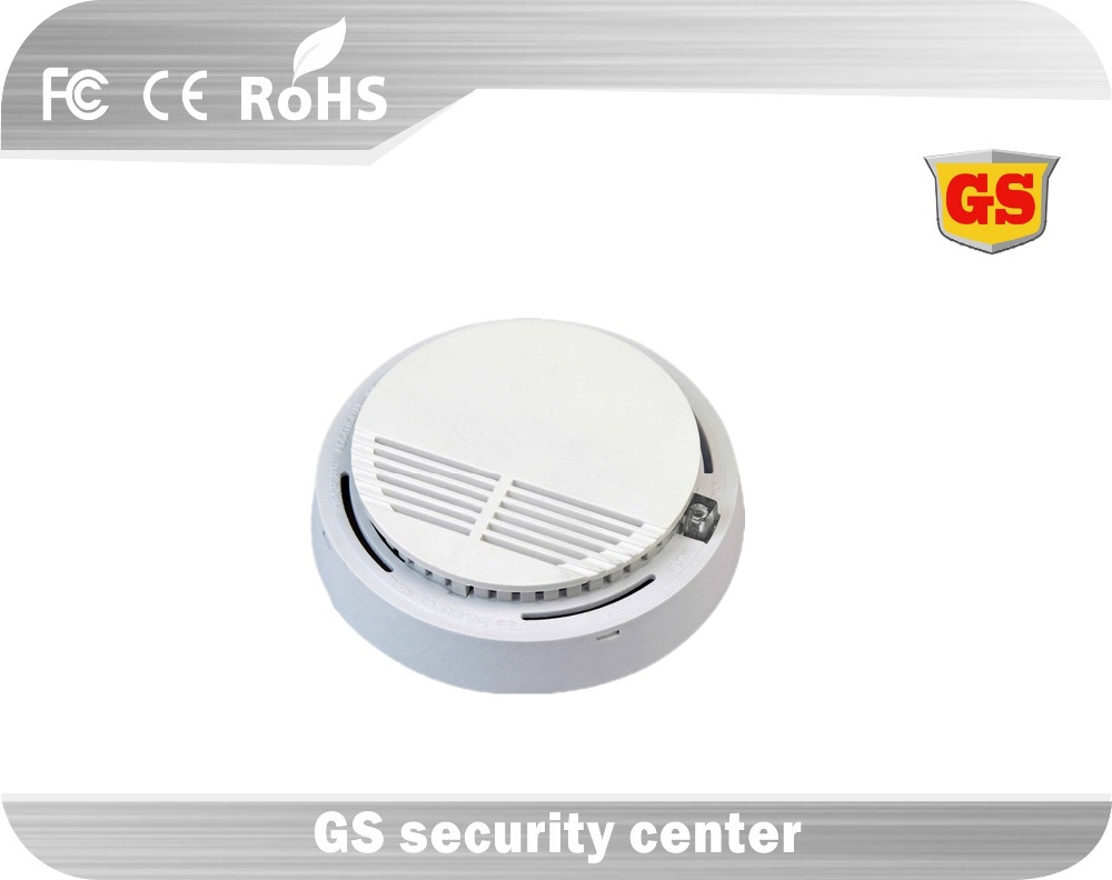 GS Wireless Smoke Detector Alarm Sensor High Sensitive Indoor Fire Alarm Monitor Home Security System(China (Mainland))