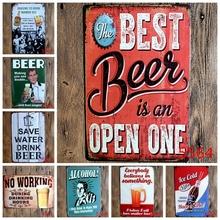 Beer Vintage Metal Signs Metal Wall Plaques Art Plaque Metal Decorative Vintage Pub Posters 20*30 CM(China (Mainland))
