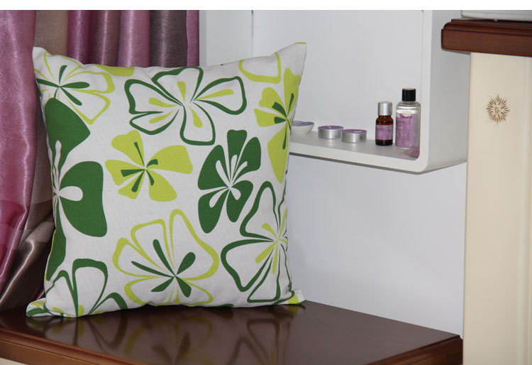 Standard Throw Pillow Cover Sizes : Aliexpress.com : Buy Printing Green Flower Custom Best Decorative Cool Indian Throw Pillow ...