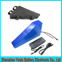 2016 new Tiangle style lithium battery 60v 25ah 1800w electric bike battery pack with BMS ,charger ,bag For Samsung cell