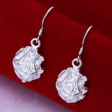 Unique Flower Jewelry silver-plated party gifts big earings crystal Drop earrings trendy women earrings Free shipping