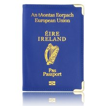 Leuke Vrouwen Reizen Document Organizer Voor Paspoort Ierland Paspoort Leer Case Voor Passport Bescherming Hoge Kwaliteit(China)