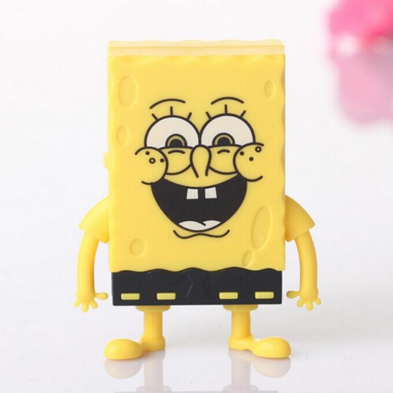 Free Shipping Spongebob Squarepants Cartoon Mini Digital Music TF Download Free Music MP3 Player With Micro TF/SD Card Slot(China (Mainland))