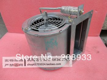 Germany 220V centrifugal turbine fan inlet blower small industrial dust collector modified with a hair dryer+cooling fan