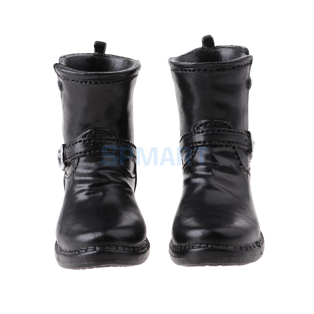 """MagiDeal 1//6 Scale Male Boots Shoes Toy for 12/"""" Phicen Action Figure Black"""