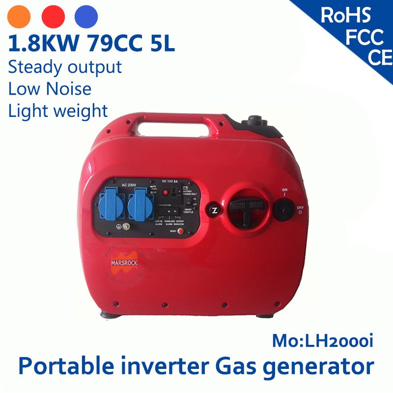 2KW 79cc 5L 120V/230V large capacity Steady output Low Noise Light weight easy operation samll portable inverter gas generator(China (Mainland))