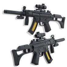 Черный Имитация Пистолет Игрушечный Пистолет Электронный Cool Мигающий Зондирования Arme Arma Orbeez Игрушечный пистолет Шутер Военный Пистолет Игрушки