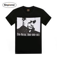 2016 New Summer Fashion Men's T-shirt Putin Printing O-neck Short Sleeve T Shirts Casual Loose Tops Tee JA3007