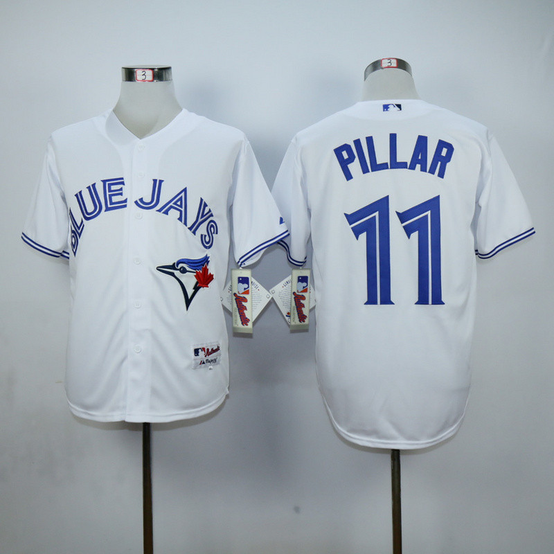 2016 Newest Toronto Blue Jays 11 Kevin Pillar Jersey Blue Home w/40th Anniversary Patch, Men Blue white Baseball Jerseys(China (Mainland))