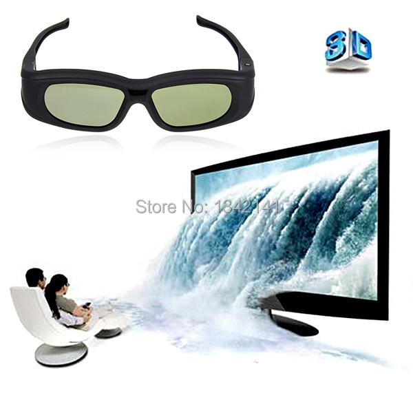 Super Universal IR&Bluetooth 3D Active Shutter TV glasses For Panasonic For Sony For Samsung For LG For Toshiba 3DTV + More(China (Mainland))