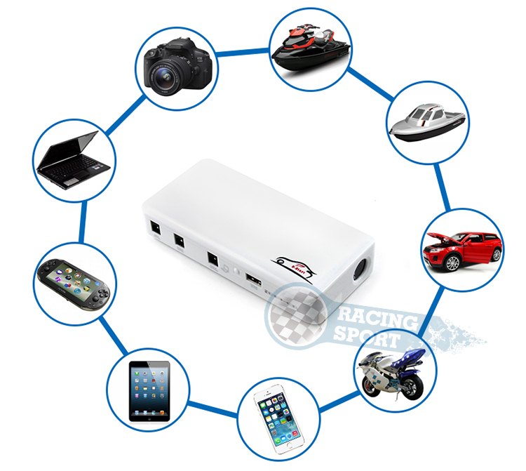 16800mA 12V Car Battery Jump Starter Multi-Function charger for iphone4s,ipads,Cameras Safe and convenient portable Mobile Power<br>