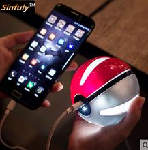 Pokeball pokemon go power bank 5500 mah bonito pokébola para iphone samsung huawei universal externa carregador de bateria powerbank(China (Mainland))