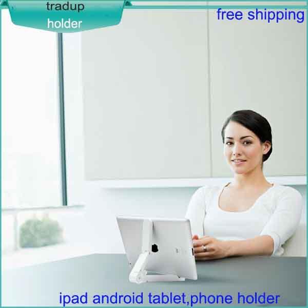 2015 new Desktop type mobile phone tablets holder folding lazyguy Multi purpose compatible for ipad 1