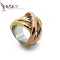 Iberis jewelry, 20mm ring stainless steel ring female fashion three colors, 316L high-quality materials