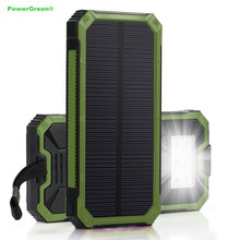 Buy PowerGreen Mini Solar Power Bank 15000mAh External Solar Battery Energy Backup Charger Solar Cell Panel Mobile Phone for $27.03 in AliExpress store