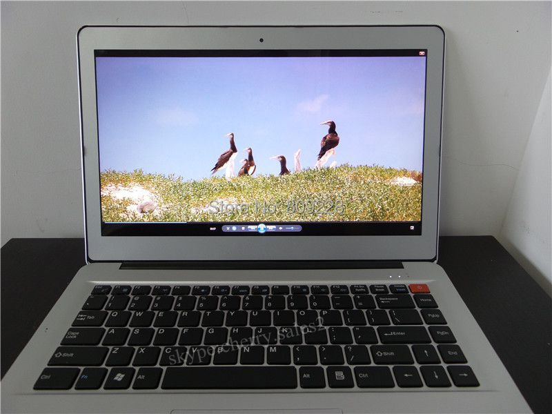 Free shipping14 inch with metal case ultrabook laptop notebook computer intel core I5 1 7Ghz 4GB