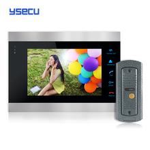 Buy  Monitor Get Doorbell  free YSECU 7 Inch Color LCD Video Door Phone Intercom System Door Release Unlock Doorbell Camera Free