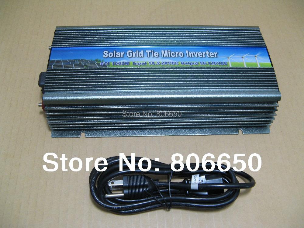 1000W 12V-110V micro grid tie inverter for solar home system, MPPTfunction Grid tie power inverter(China (Mainland))