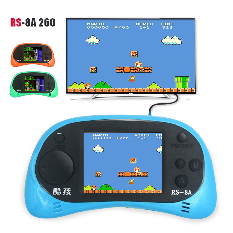 Kids Toys Video Game Console 2.5 inch LCD Handheld Game Player Built-in 168 Different Games Portable hand-held gaming device(China (Mainland))