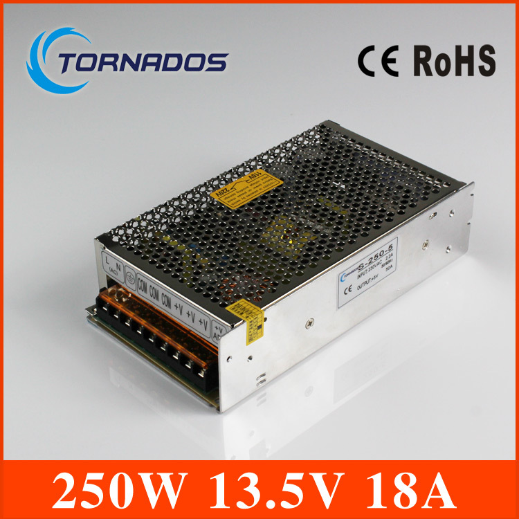 CE ROHS certification 13.5V 250w switching power supply with OEM and ODM offered s-250-13.5 industrial LED power source(China (Mainland))