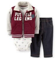 SY098 2015 new Original Carter's baby boy clothes bebe baby boys coat + tights + Pants 3 pcs. meninos kids clothing set retail