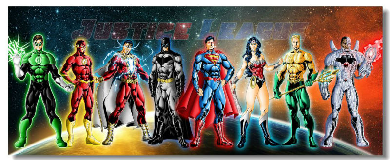 Justice League JL Movie Wall Silk Poster 78x32,60x24,30x12 inch Big Prints Boy Room Superman Batman Flash HawkGirl Wonder (056)(China (Mainland))