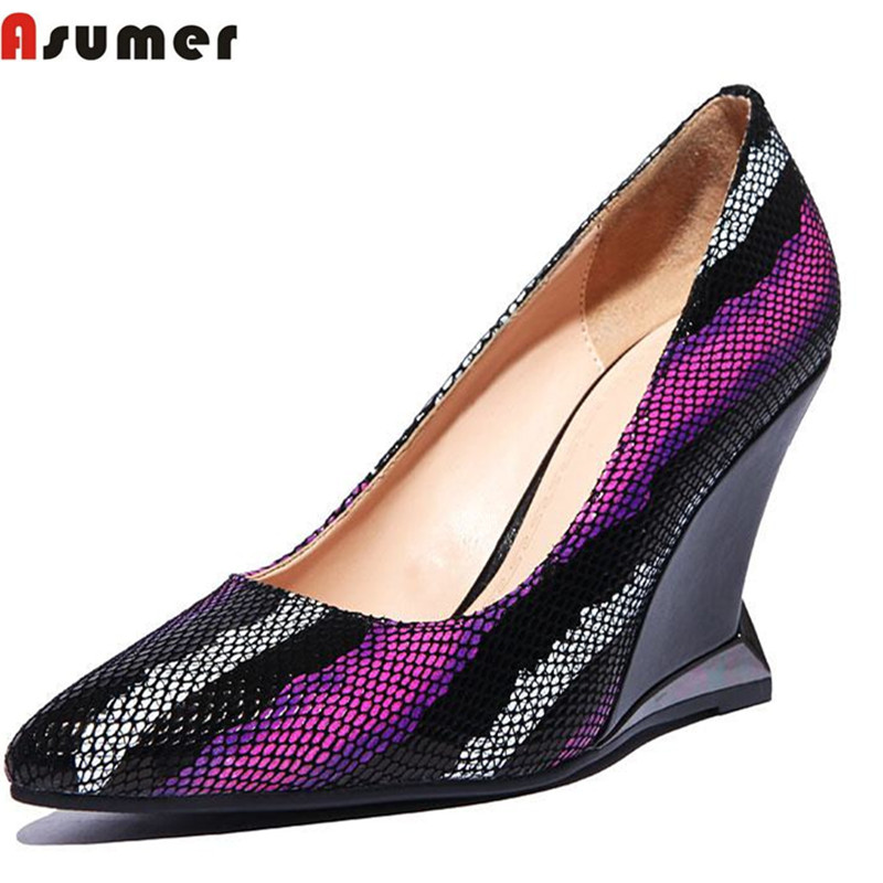 new arrive 2016 genuine leather high heels fashion nubuck leather pointed toe women pumps hot sale wedding shoes ladies shoes<br><br>Aliexpress