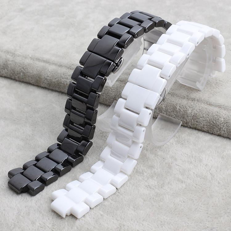 Керамические часы браслет 22 мм белый черный смотреть полоса ремешок Бабочка Пряжка браслет часы аксессуары пояса