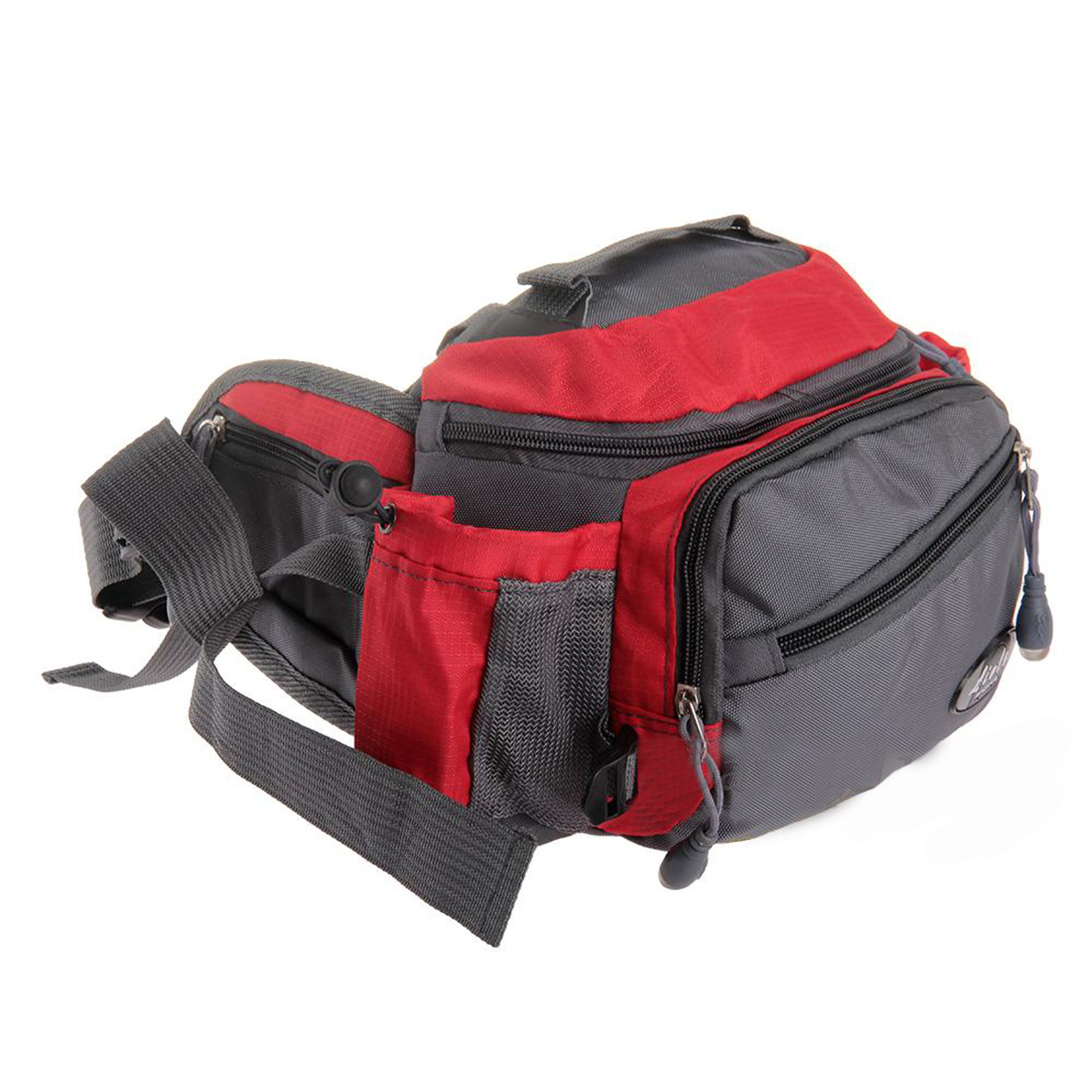 High Quality Portable Waist Bag Fanny Pack Shoulder Crossbody Multifunction Nylon Red + Grey(China (Mainland))