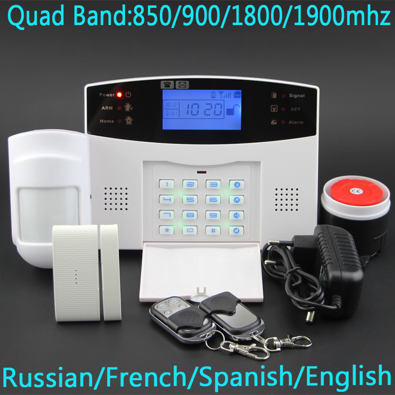 Free shipping Wireless SMS Home GSM Alarm system House intelligent DIY Burglar Security Alarm System(China (Mainland))