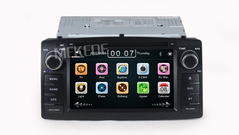 6.2inch Capacitive screen car multimedia player for Corolla E120 2003-2006 Toyota green light with gps navigator dvd player