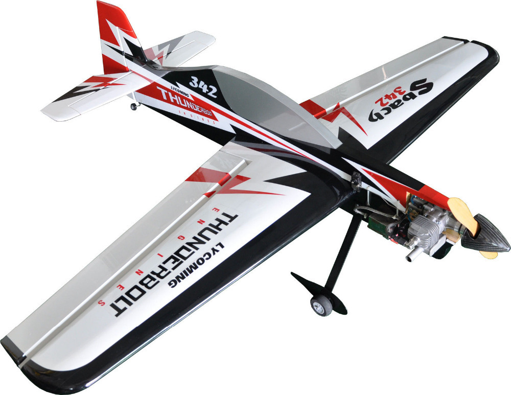 "3D Aerobatic Flight Model RC Airplane Electric 6CH ARF Sbach 342 55"" Profile Plane(China (Mainland))"